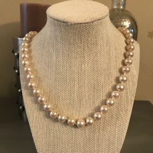 Long Cream Pearl Strand Necklace